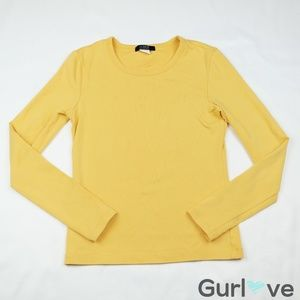 J. Crew Yellow Sweater Size S